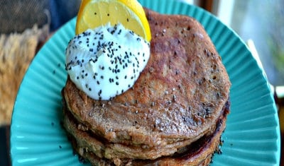 Lemon and Poppy Seed Pancakes by Peanut Butter Girl