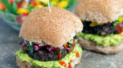 Black Bean & Corn Burgers