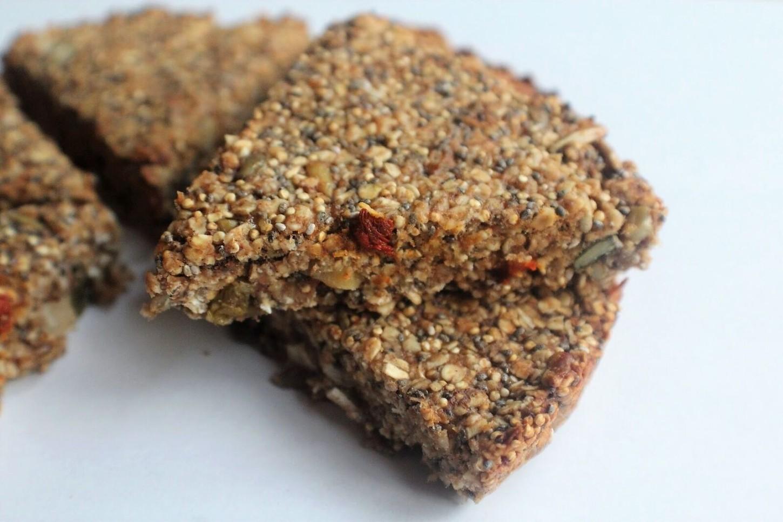 Goji, Nut & Seed Protein Flapjack Slices