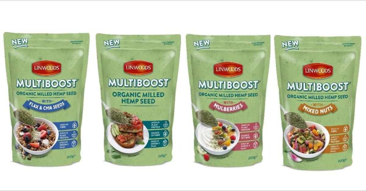 Introducing Linwoods MULTIBOOST Organic Milled Hemp Seed Blends