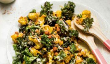 Turmeric, cauliflower & kale salad