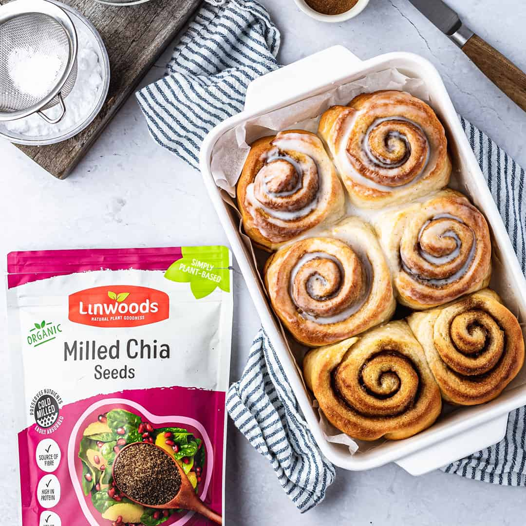 No Yeast Cinnamon Buns by @peachypalate