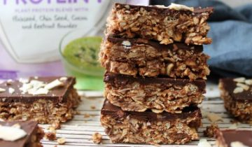 Double Chocolate No Bake Crunchy Flapjacks