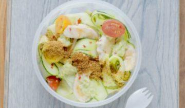 Creamy Avocado, Chicken & Chilli Courgette Fettucine