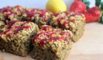 Strawberry & Lemon Crumble Bars
