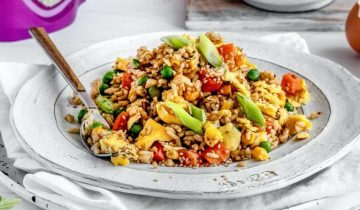 Simple Egg Fried Rice with Flax