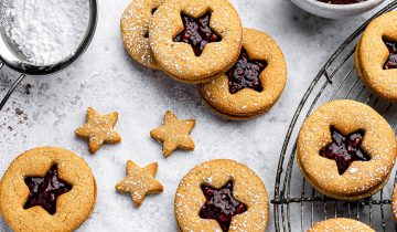 Peanut Butter Nutty Linzer Cookies