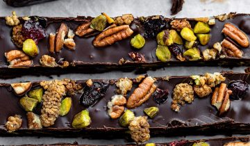 Fruit and Nut Chocolate Cake