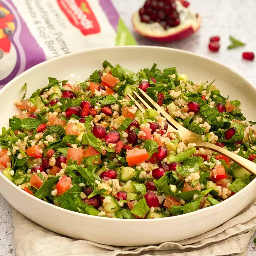 Tabbouleh Salad by @dumbbellsandoats