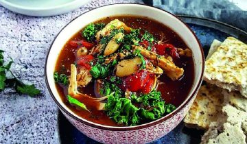 Spicy Bean Turkey Kale Soup