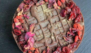 Chocolate, Cranberry & Goji Berry Cheesecake