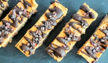 Choc & peanut butter fudge bars