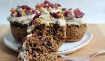 Cranberry, Date & Ginger Walnut Muffins