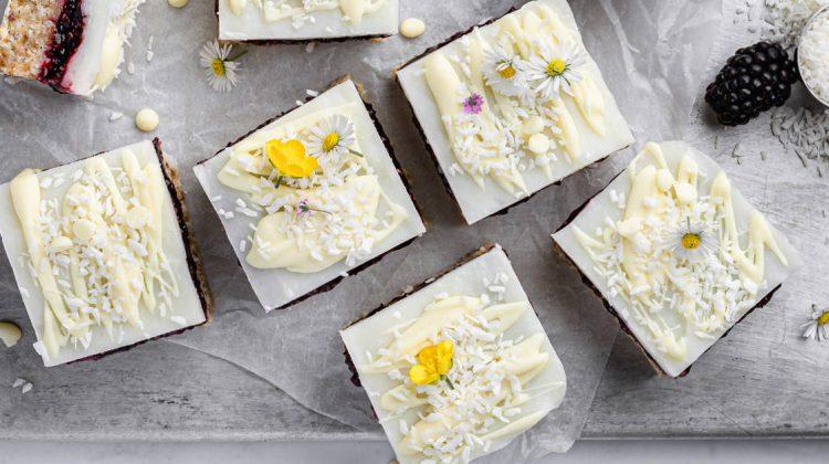 Lemon Blackberry Coconut Squares