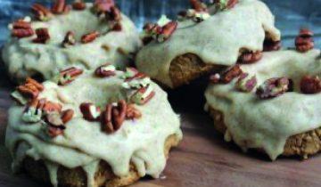 No-Bake Pumpkin Spice Protein Doughnuts