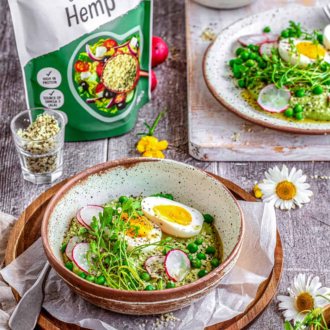 Minty Peas with Hemp by @peachypalate