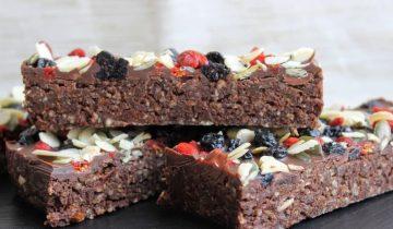 No Bake Fruity Brownie Bars