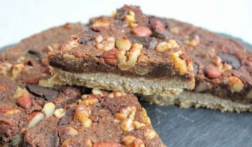 Salted Chocolate Mixed Nut Slice