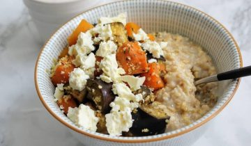 Roasted Veggies & Feta Porridge
