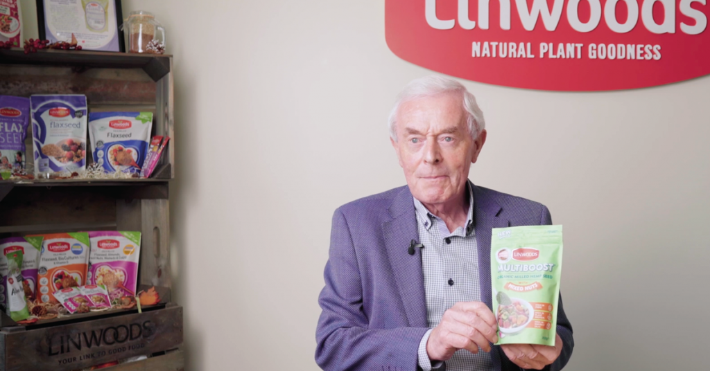 John Woods, Founder of Linwoods and Multiboost Organic Milled Hemp Seed Blend