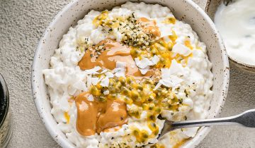 Tropical Coconut Rice Pudding Breakfast Bowl