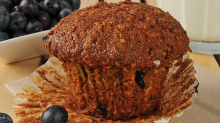 Flaxseed Yogurt Blueberry Muffins